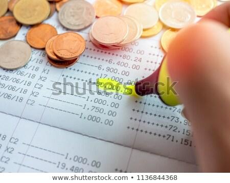hesap · makinesi · fatura · kalem · iş · finansal · para - stok fotoğraf © redpixel