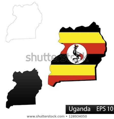 Uganda térkép zászló bent izolált fehér Stock fotó © michaklootwijk