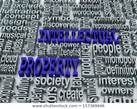 3D collage proprietà intellettuale parole business sfondo Foto d'archivio © dacasdo