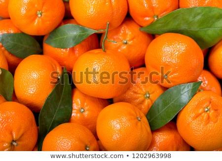 Mandarijn- vruchten mandarijn voedsel oranje kleur Stockfoto © M-studio