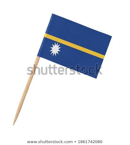 Miniatuur vlag Nauru geïsoleerd Blauw Stockfoto © bosphorus