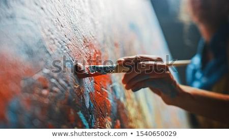 Artista mano bambini bambino vernice sfondo Foto d'archivio © tannjuska