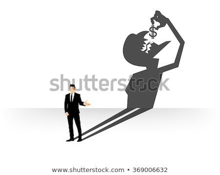 Businessman casting a devil shadow Stock photo © ratch0013