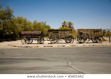 old waggons in the death valley stock photo © meinzahn