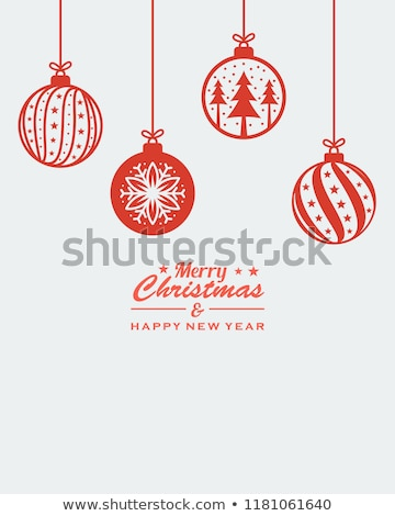 christmas balls with snowflake symbols stock photo © kubais