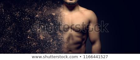 mobil · hiúság · portré · gyönyörű · fiatal · barna · hajú - stock fotó © stokkete