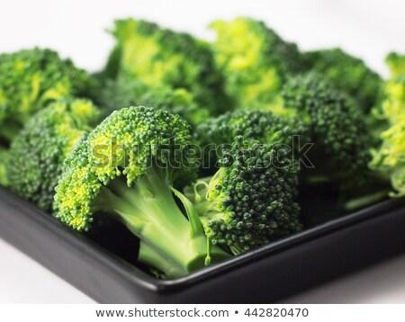 Zöld karfiol zöldség izolált közelkép friss Stock fotó © stocker