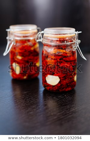 fresh tomato in a canning jar stock photo © zerbor