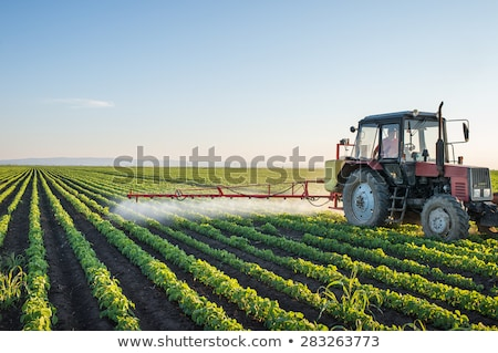 farm tractor spraying a field stock photo © justinb