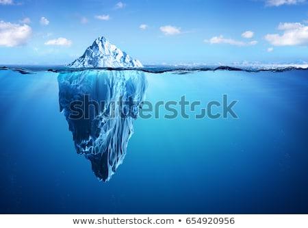 Stok fotoğraf: Mavi · iki · buzul · göl · İzlanda · yansıma