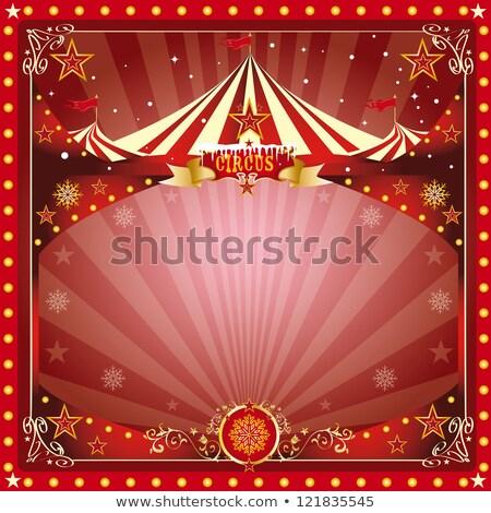 Powitanie cyrku plakat christmas nowy rok Zdjęcia stock © tintin75