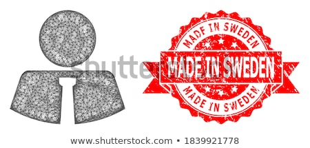 Zweden Rood stempel opschrift geïsoleerd Stockfoto © tashatuvango