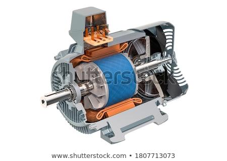 Elektryczne silnikowych 3D wygenerowany zdjęcie czerwony Zdjęcia stock © flipfine