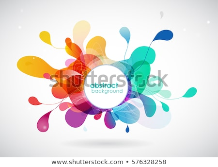rainbow colored background with leaves stock photo © shawlinmohd
