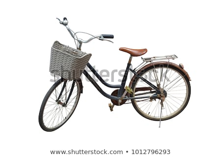 stylish brown bicycle isolated on white stock photo © vlad_star