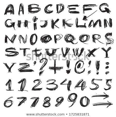 vektör · gerçek · el · alfabe · okul · imzalamak - stok fotoğraf © kiddaikiddee