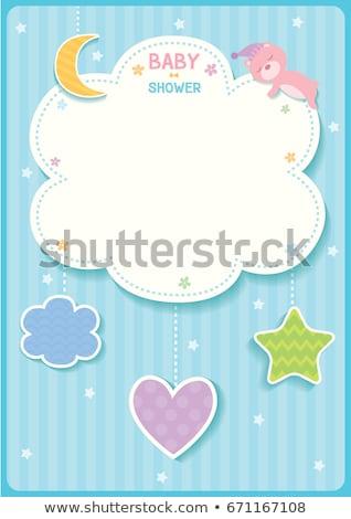 Baby jongen memo weinig afbeelding vierkante Stockfoto © Soleil