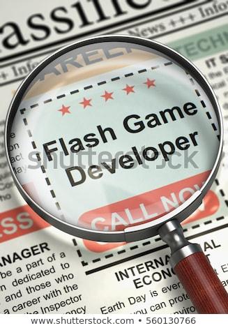 Villanás játék fejlesztő újság állás hálózat Stock fotó © tashatuvango