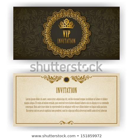 diamond vip invitation card vector illustration stock photo © carodi