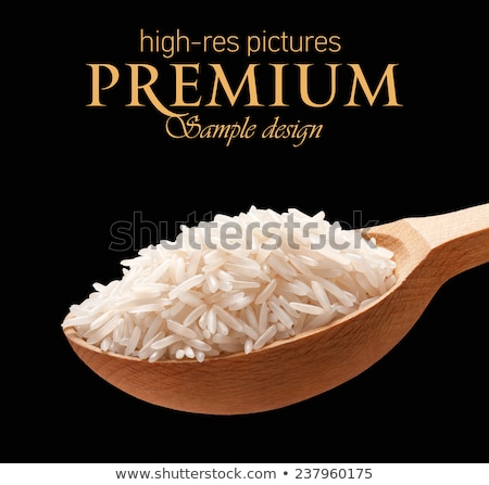 wooden background with copy space   basmati rice stock photo © zerbor