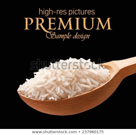 Bois espace de copie basmati riz alimentaire table Photo stock © Zerbor