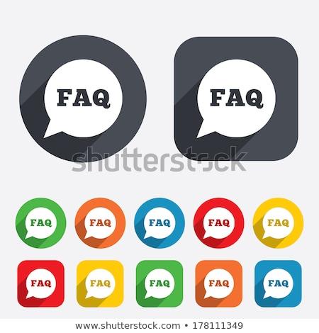 ストックフォト: よくある質問 · 赤 · ベクトル · アイコン · ボタン · ウェブ