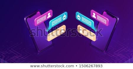 user purple vector icon design stock photo © rizwanali3d