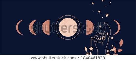 Minimalista nap fogyatkozás képzeletbeli űr feketefehér Stock fotó © alexaldo