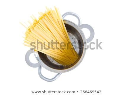 Bundle of dried fettuccine pasta in a pot Stock photo © ozgur