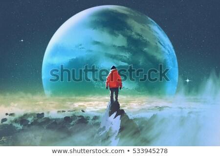 синий земле Живопись Сток-фото © dicogm