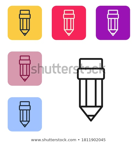 Trabajo de oficina cuadrados vector negro botón icono Foto stock © rizwanali3d