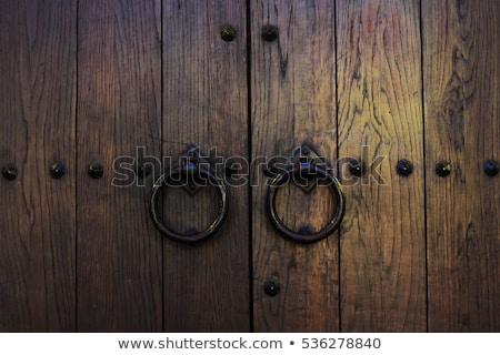 古い · 木製 · ドア · 金属 · ヴェローナ · イタリア - ストックフォト © haraldmuc