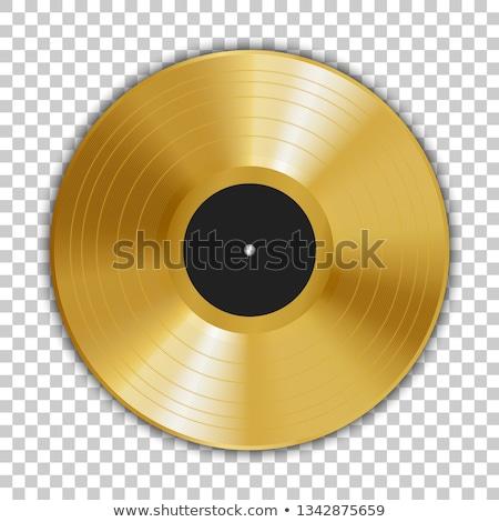 Altın lp etiket müzik arka plan disko Stok fotoğraf © Suljo