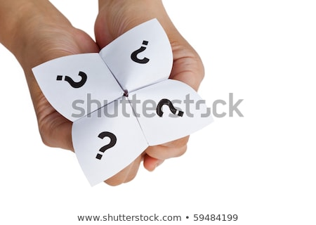 Stock photo: Questions on fortune teller