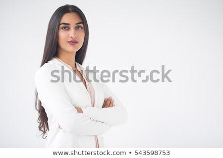 furioso · mujer · de · negocios · aislado · blanco · cara - foto stock © fuzzbones0