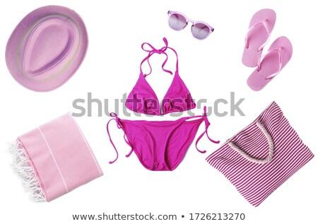 pink swimsuit isolated stock photo © shawlinmohd