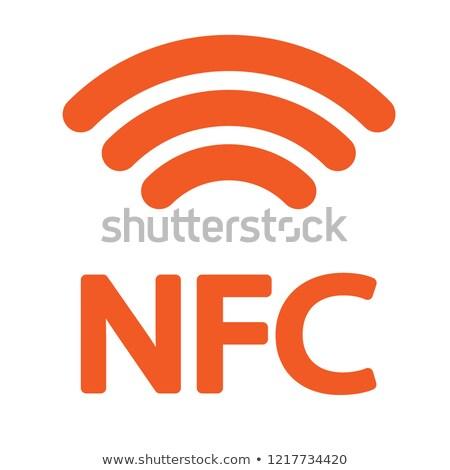 NFC Sign blue Vector Icon Design Stock photo © rizwanali3d