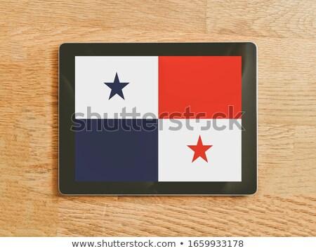 Tablet Panama vlag afbeelding gerenderd Stockfoto © tang90246