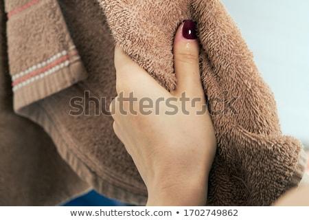mãos · vermelho · unha · polonês · isolado · branco · menina - foto stock © wavebreak_media