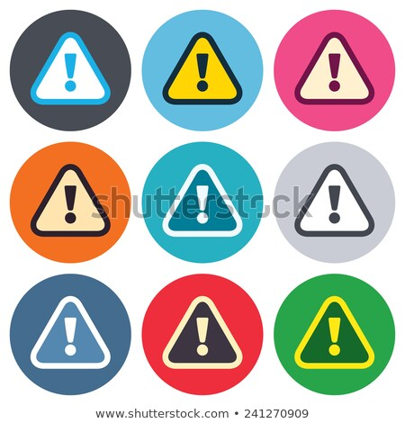 Danger Sign Pink Vector Button Icon Stock photo © rizwanali3d
