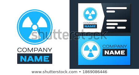 Radioactive Sign Blue Vector Icon Design Stock photo © rizwanali3d