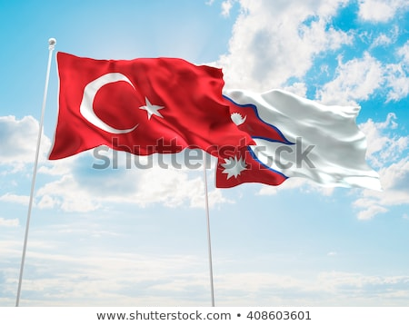 Turkey and Nepal Flags Stock photo © Istanbul2009