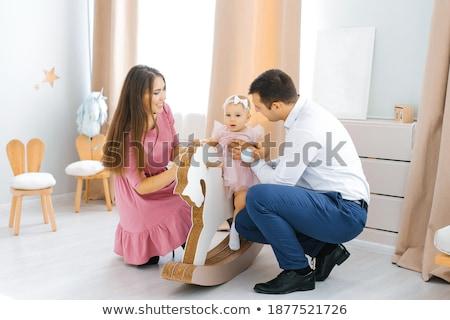 Bambina donna giocare giocattolo accogliente stanza Foto d'archivio © Paha_L