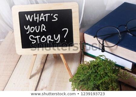 learn history motivational quote on a blackboard stock photo © tashatuvango