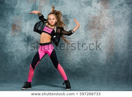 hip-hop · güzel · kızlar · poz · aile · moda - stok fotoğraf © Paha_L