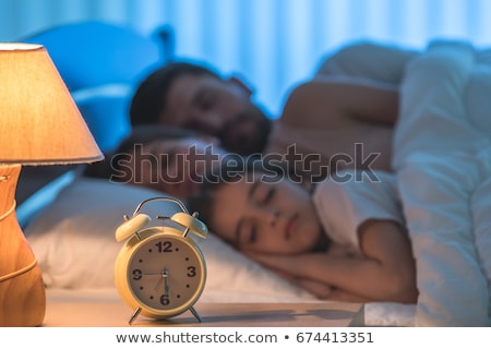 azul · despertador · quadro · retro · branco · relógio - foto stock © vlad_star