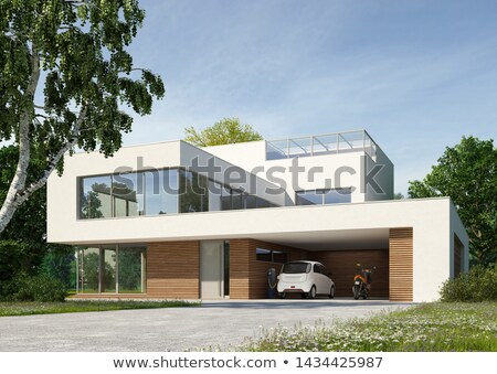 Facade of a modern villa Stock photo © jrstock