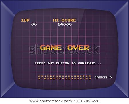 Rétro jeux joystick quatre couleur technologie Photo stock © sifis