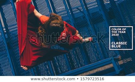 Jonge echte mensen straat poseren foto's stedelijke Stockfoto © zurijeta