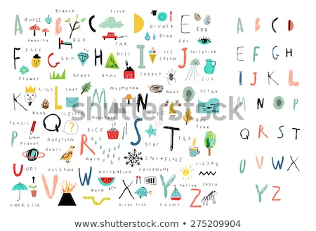 alphabet learning tree illustration stock photo © dcwcreations